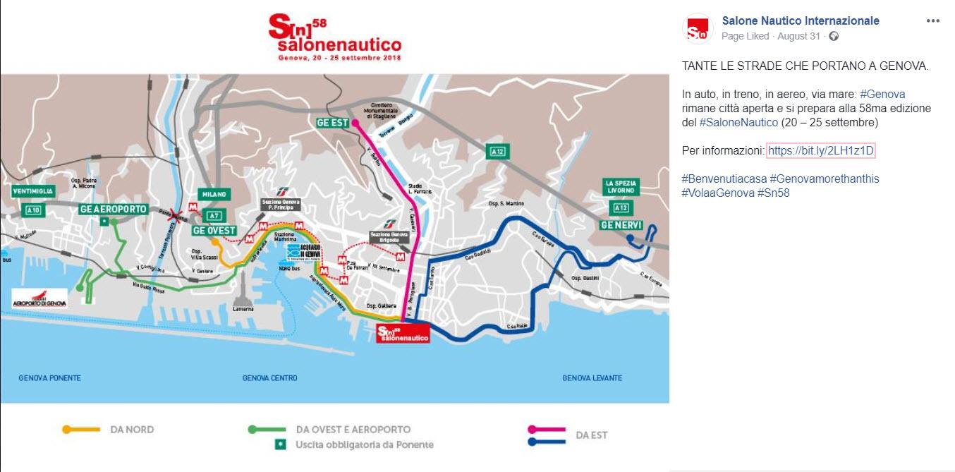 Strade Genova Salone Nautico